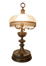 Desk lamp shade isolated vintage old with a on a white background Royalty Free Stock Photography
