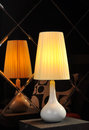 Desk lamp table light real and beautiful by professional photographer has years of experience in photography as much as possible Royalty Free Stock Photos