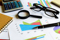 Desk office business financial accounting calculate graph analy analysis Stock Photo