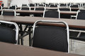 Desks in the classroom Royalty Free Stock Photography