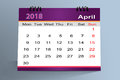 Desktop Calendar Design , April 2018