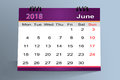 Desktop Calendar Design, June 2018
