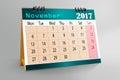 Desktop Calendar Design 2017