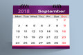 Desktop Calendar Design, September 2018