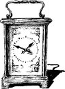 Desktop clock vector image of the ancient Stock Image