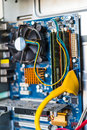Desktop computer mainboard manboard Royalty Free Stock Photo