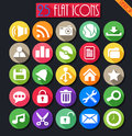 Desktop flat icons set vector illustration of Royalty Free Stock Photo