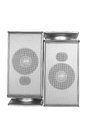 Desktop speakers on white background Stock Photo