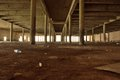Desolate empty dark place remains of a textile factory Royalty Free Stock Images