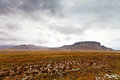 Desolate mountain landscape on a rainy day Royalty Free Stock Photography