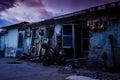 Desolated Fishermen Shelters Royalty Free Stock Photo