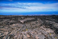 Desolated landscape in chain of craters road recent lava flows big island hawaii Royalty Free Stock Image