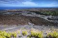 Desolated landscape in chain of craters road recent lava flows big island hawaii Stock Image