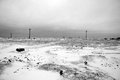 Desolated winter scenery in the Royalty Free Stock Photos