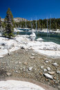 Desolation wilderness in eastern california a beautiful remote lake has formed from melted snow the sierra nevada mountains this Stock Photos