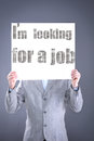 Desperate businessman looking for a job