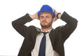 Desperate Manager Holding Hands On His Head Royalty Free Stock Photo