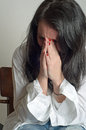 Desperate weeping woman image of a Stock Photos