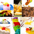 Dessert cake and sweets collection collage Royalty Free Stock Photo