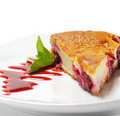 Dessert - Cherries Cake Royalty Free Stock Image