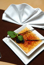 Dessert creme brulee Royalty Free Stock Photography