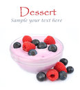 Dessert.Dairy produkt Zdjęcia Stock
