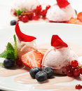 Dessert - Fruit Mousse Stock Photography