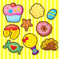 Dessert icon a set of including cup cake candy cookies lolly pod and hopefully it is suitable for bakery packaging and games for Stock Photos