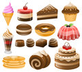 Dessert Icon Set, Sweets, Confectionery Royalty Free Stock Photo