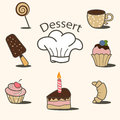 Dessert icons Royalty Free Stock Photo