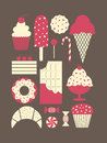Dessert Icons Collection Stock Image