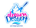 Dessert logo an illustration representing a ice cream label design Stock Photo