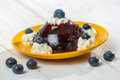 Dessert made of jelly and berries Stock Images