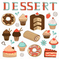Dessert menu composition a colorful Royalty Free Stock Images