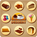 Dessert menu illustration for cover of Royalty Free Stock Photos