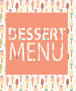 Dessert menu template vector illustration this is file of eps format Royalty Free Stock Image