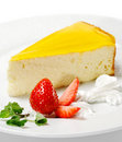 Dessert - Orange Cheesecake Royalty Free Stock Photo
