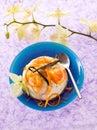 Dessert ricotta with orange Stock Photo