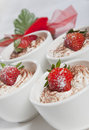 Dessert with strawberry Stock Photography