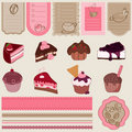Dessert and Sweets design element Set Royalty Free Stock Photos