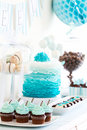 Dessert table for a party Stock Photo