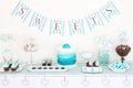 Dessert table for a party Royalty Free Stock Image