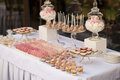 Dessert table for a wedding party Royalty Free Stock Photo