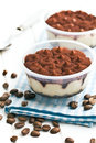 Dessert tiramisu and coffee beans Royalty Free Stock Photo