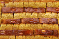 Dessert turc traditionnel de baklava Photo stock