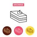 Desserts. Brownie cake icon.