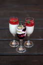 stock image of  The desserts in the glass