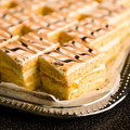 Desserts made from honey with glazing close up of Stock Photo
