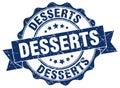 desserts seal. stamp