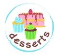 Desserts sticker